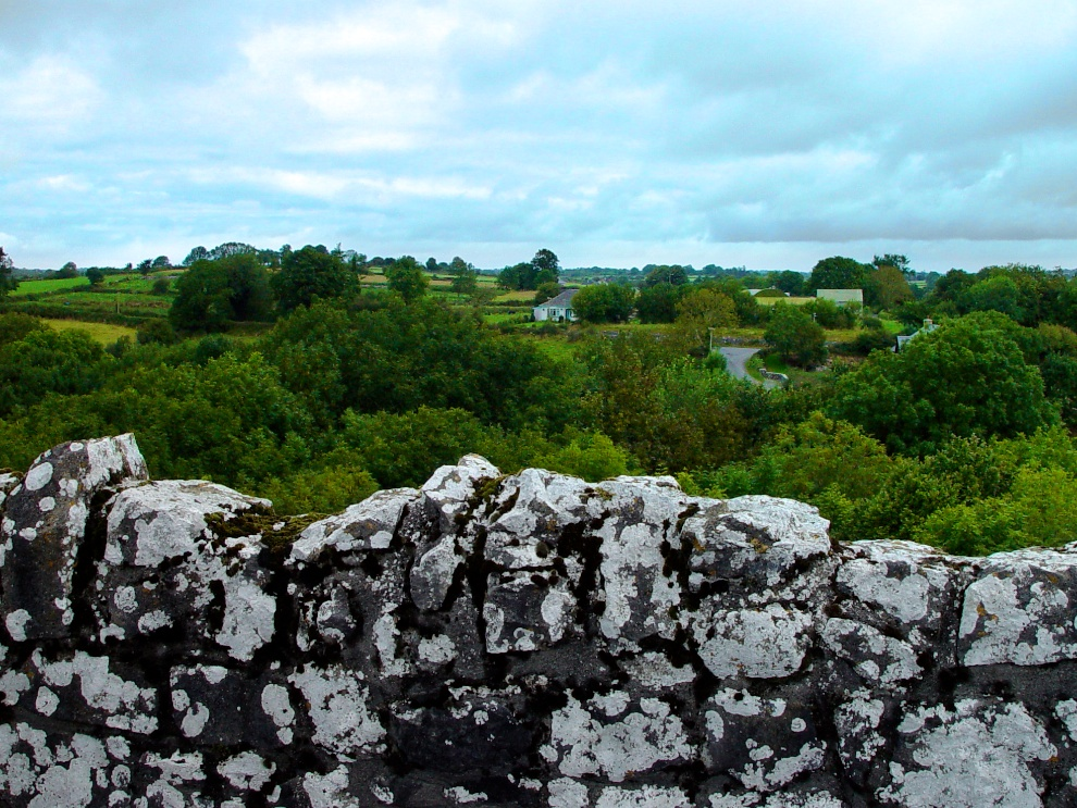 View from the top of Thoor Ballylee
